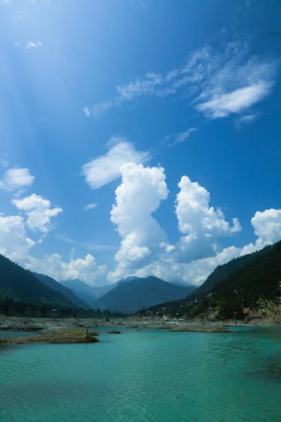 Kalam Valley Pakistan stock photo