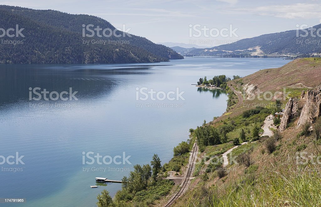 Kalamalka Lake stock photo