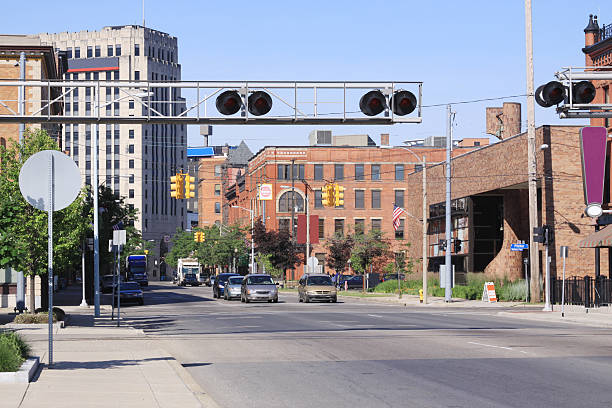 Kalamazoo, Michigan - Downtown stock photo