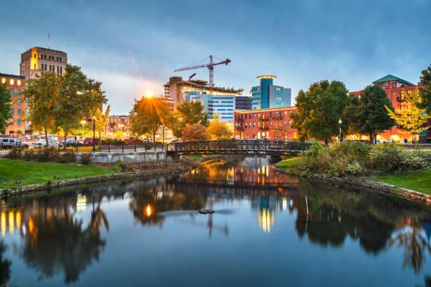 Kalamazoo, Michigan, USA Cityscape stock photo