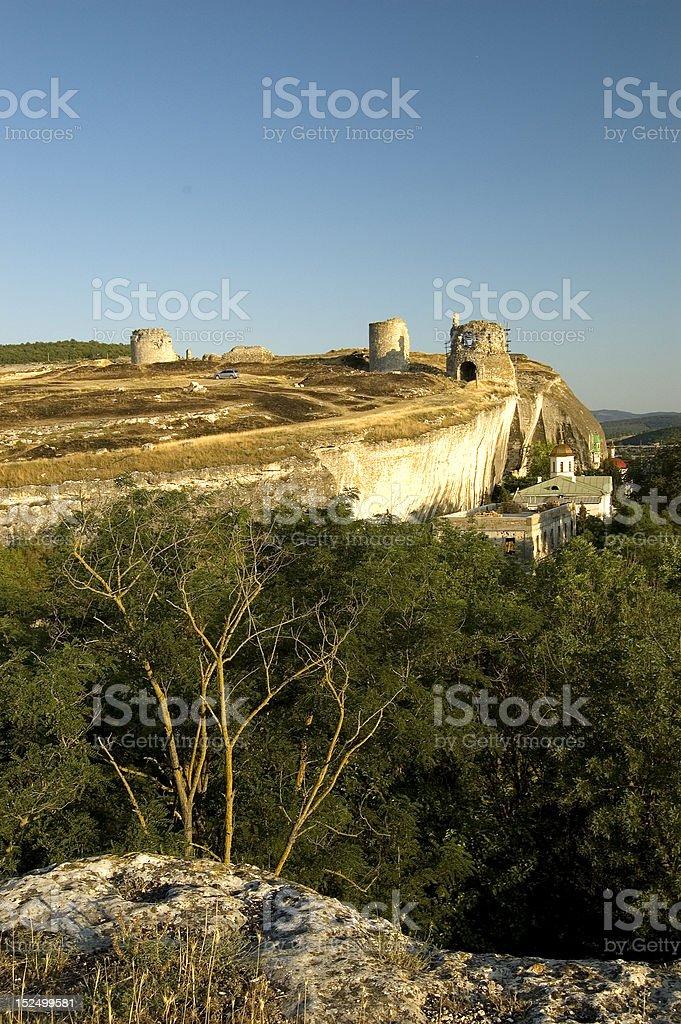Kalamita Fortress stock photo
