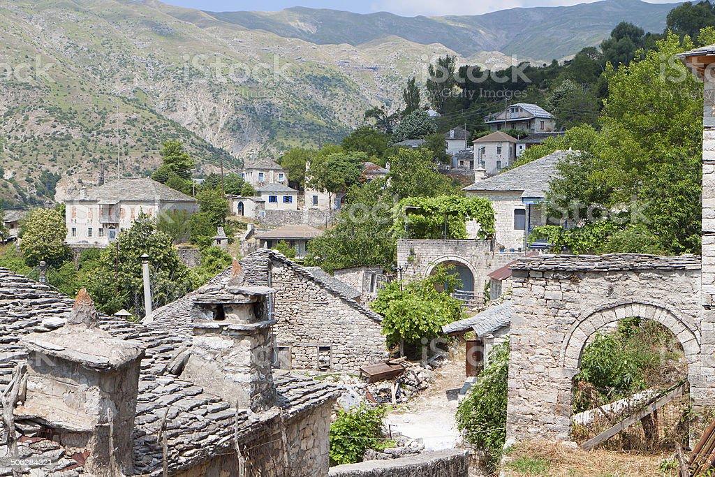 Kalarites village in Greece stock photo