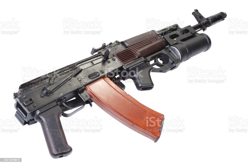 Kalashnikov AK 74 with GP-25 grenade launcher stock photo