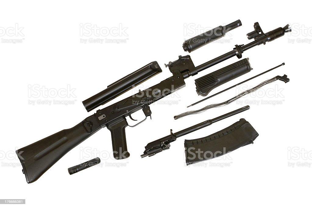 Kalashnikov AK-105 machine gun stock photo