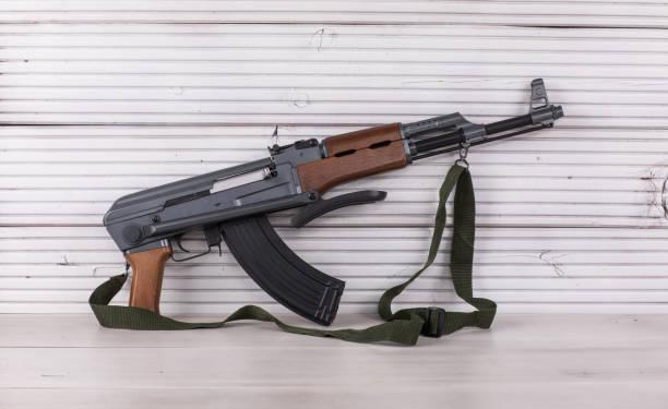 Kalashnikov assault rifle stock photo