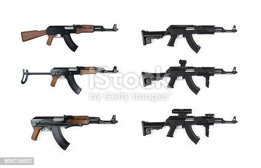 AK47, Tactical, Kalashnikov, Gun, White Background