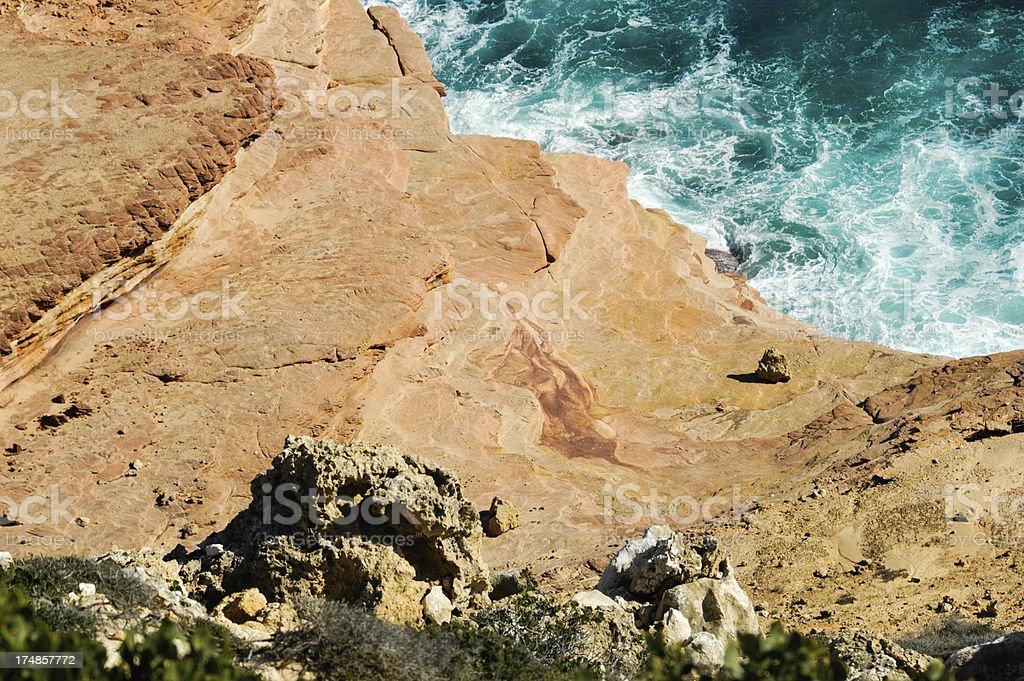 Kalbarri australian coastline royalty-free stock photo