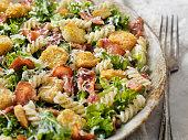 Kale and Romaine Pasta Caesar Salad