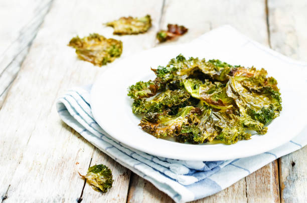 Kale chips stock photo