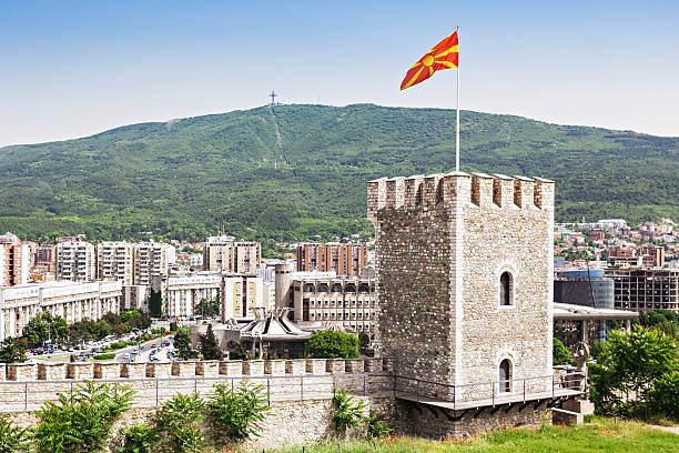 kale fortress - üsküp stok fotoğraflar ve resimler