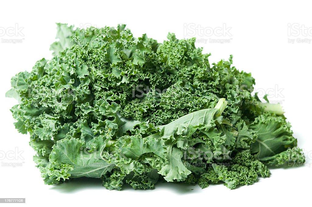 Kale isolated on a white backround royalty-free stock photo