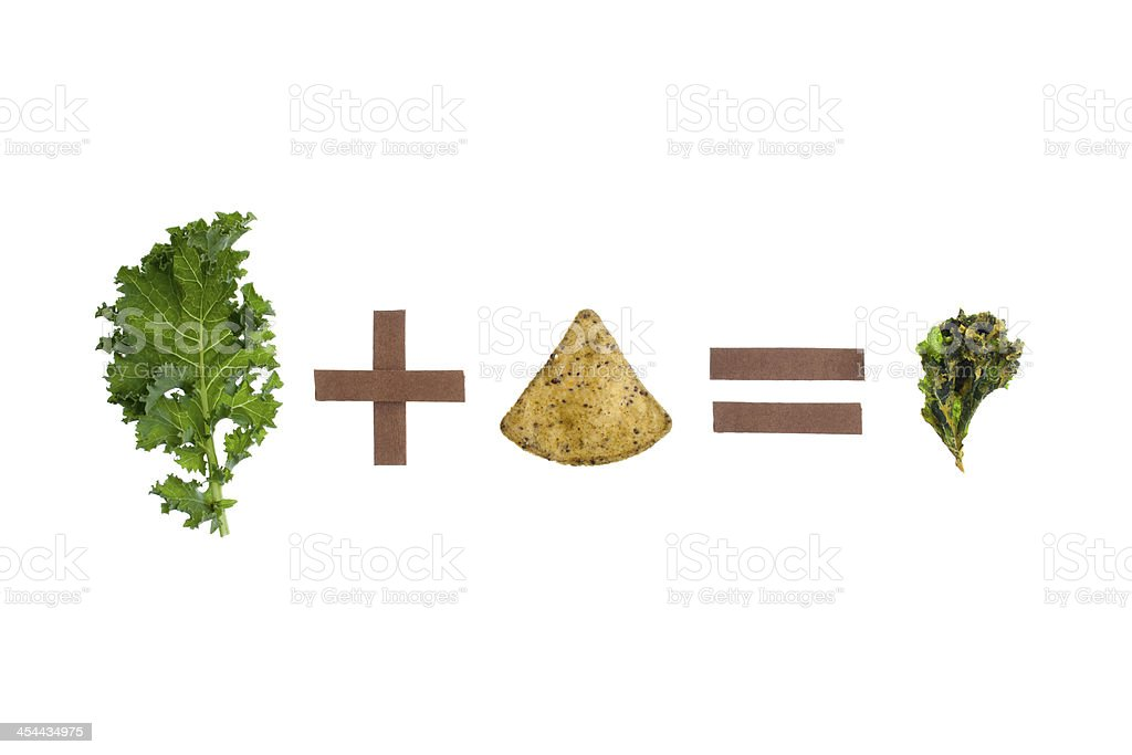 Kale plus chip royalty-free stock photo