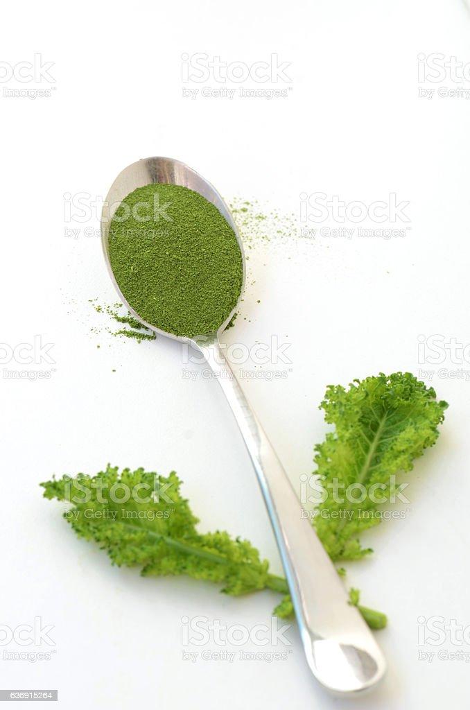 Kale Powder stock photo