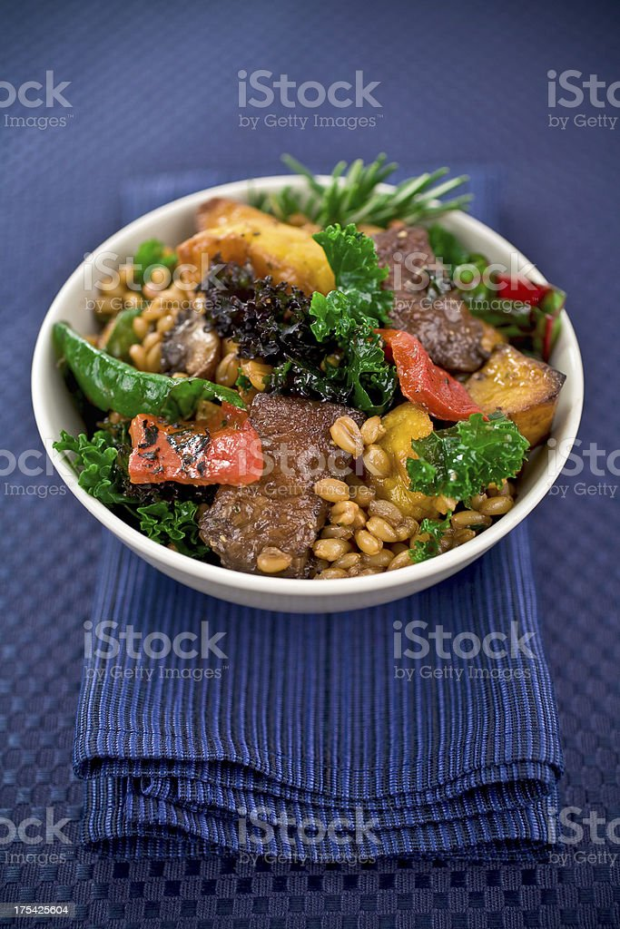 Kale Salad with Farro stock photo