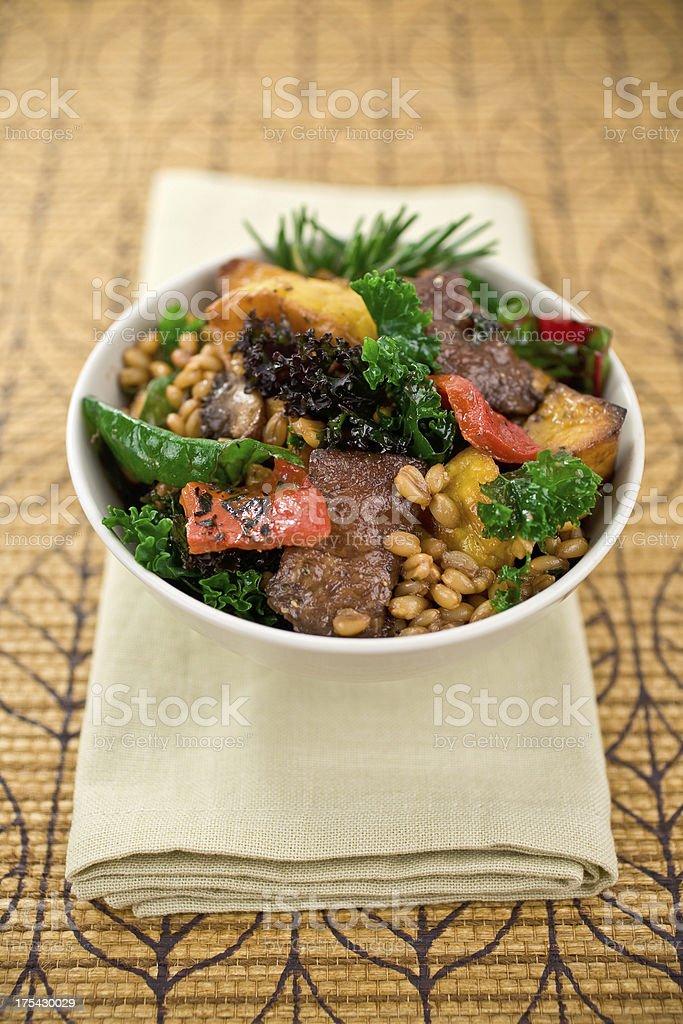 Kale Salad with Farro royalty-free stock photo
