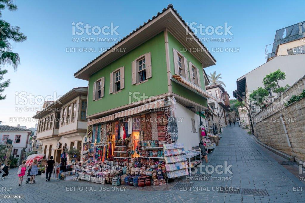 Kaleici is the historic city center of Antalya stock photo