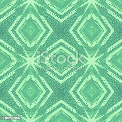 Kaleidoscope Neo Mint Green Stars Abstract Palm Leaf Christmas Tree Tropical Texture Filter Distorted Photography