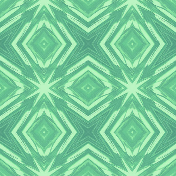 kaleidoscope neo mint green stars abstract christmas tree palm leaf tropical texture - kelly green stock pictures, royalty-free photos & images