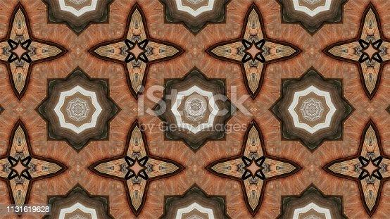 Oriental kaleidoscope fractal. Abstract background.