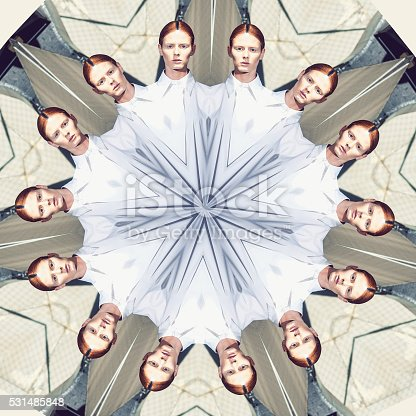 Kaleidoscope pattern made from photography