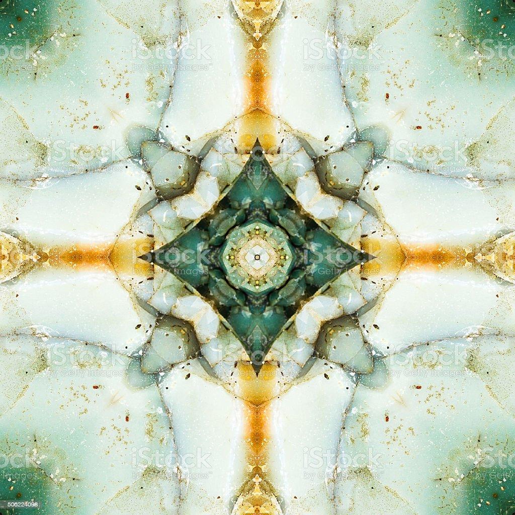 kaleidoscope square:  chert detail stock photo