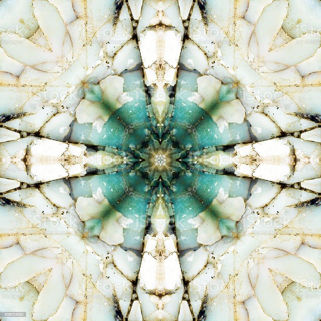 kaleidoscope square:  chert layers stock photo