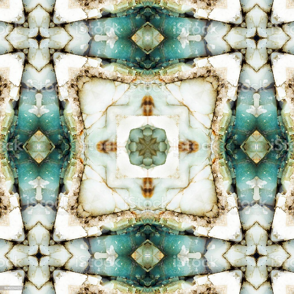 kaleidoscope square:  colorful chert stock photo