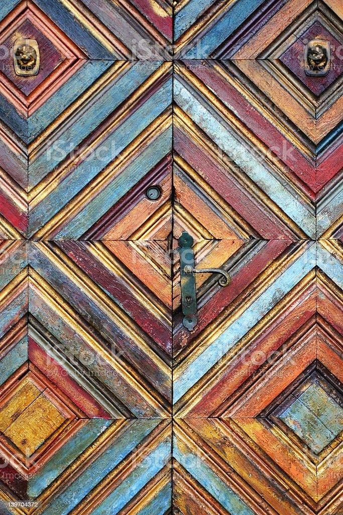 Kaleidoscopic door royalty-free stock photo
