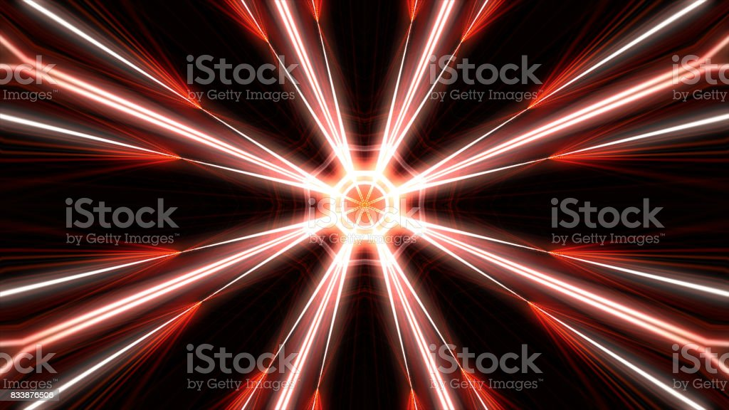 kaleidoscopic interference pattern of a laser beam reflected by a polymer film stock photo