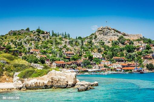 istock Kalekoy and Simena Ancient City in Turkey 861895198