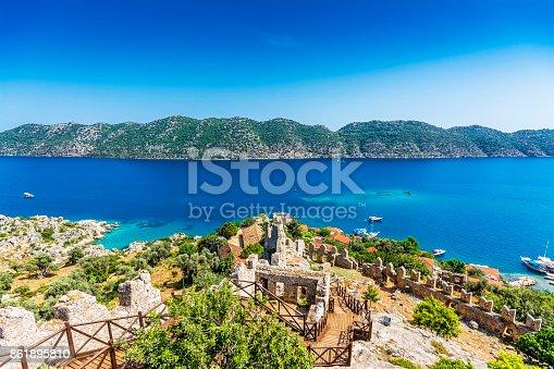 istock Kalekoy and Simena Ancient City in Turkey 861895810