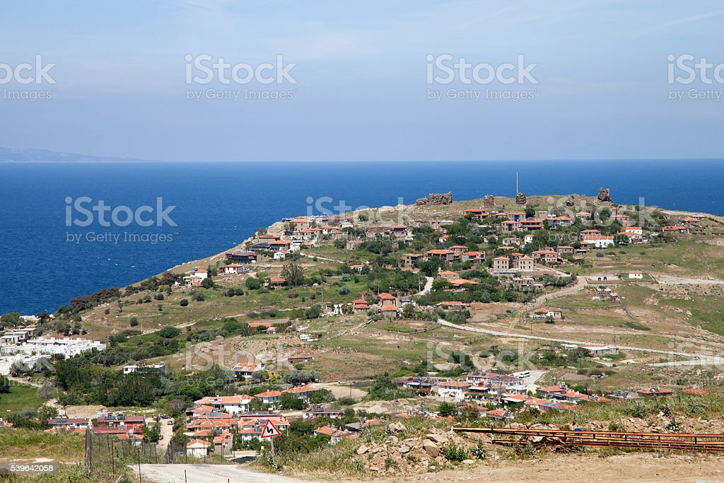 Kalekoy Village houses stock photo