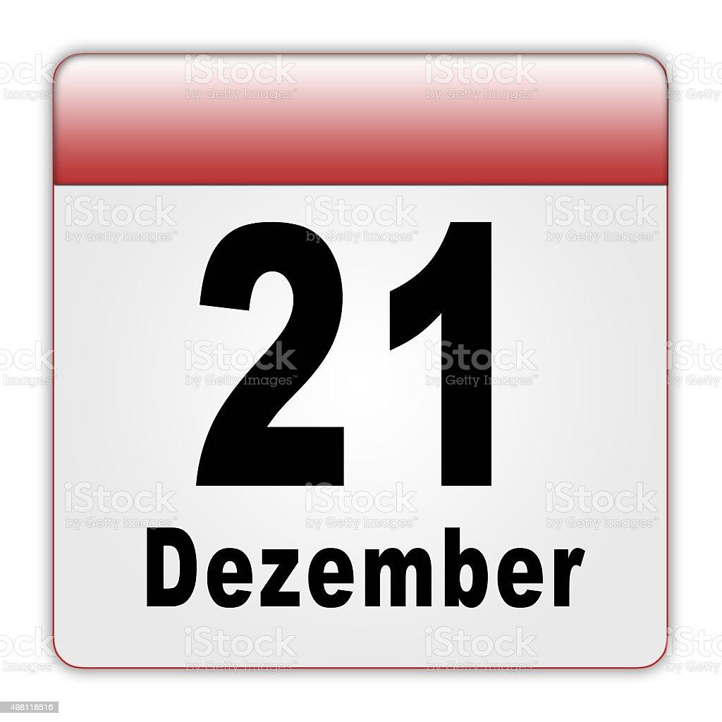 Kalenderblatt 21.Dezember (Mayakalenderende) stock photo