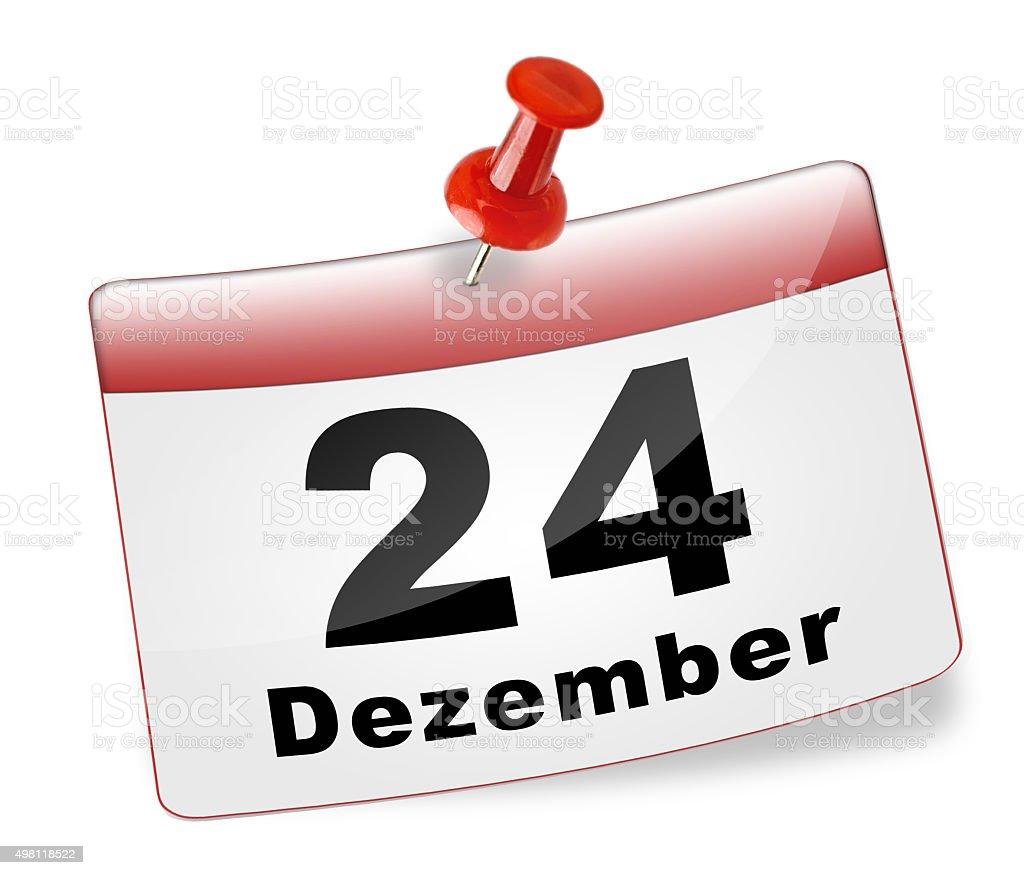 Kalenderblatt 24.Dezember stock photo