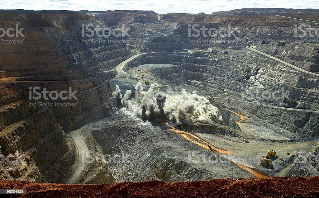 Kalgoorlie Mine, Western Australia, Australia stock photo