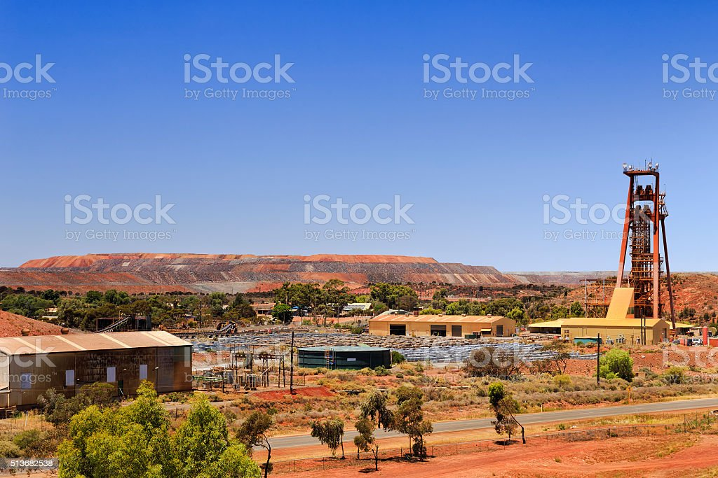 WA Kalgoorlie Pit Tower stock photo