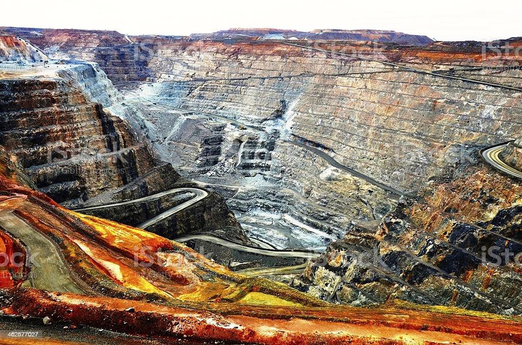 Kalgoorlie Super Pit Gold Mine stock photo