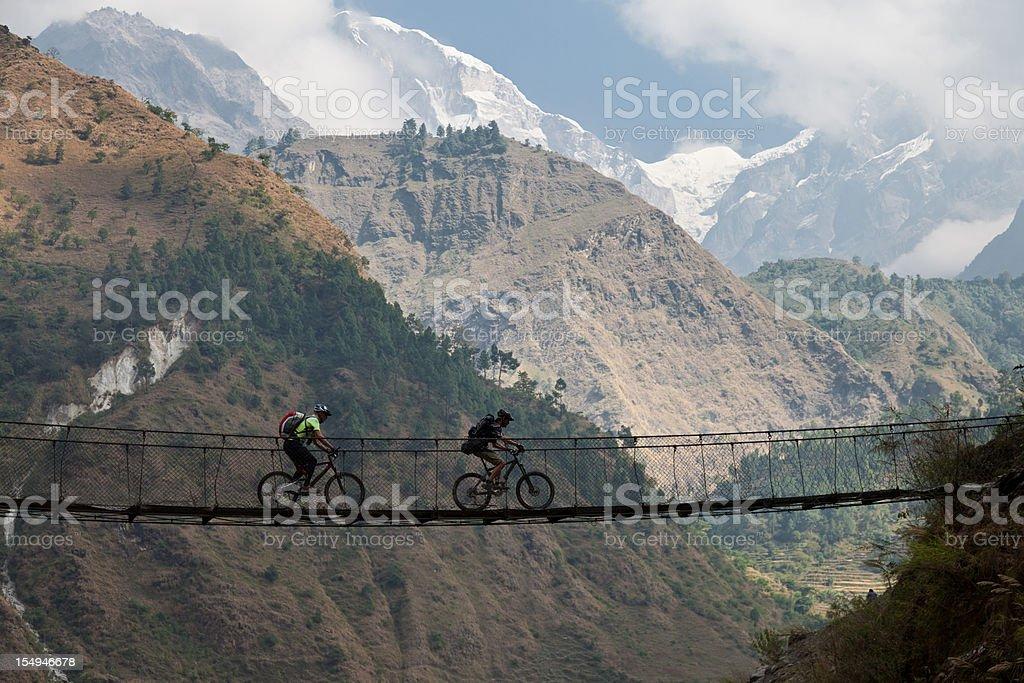 Kali Gandaki suspension bridge, Nepal stock photo