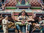 Kali hindu goddess Sri Veeramakaliamman temple