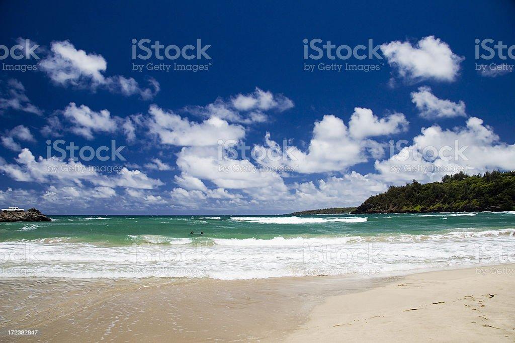 Kalihiwai Bay royalty-free stock photo
