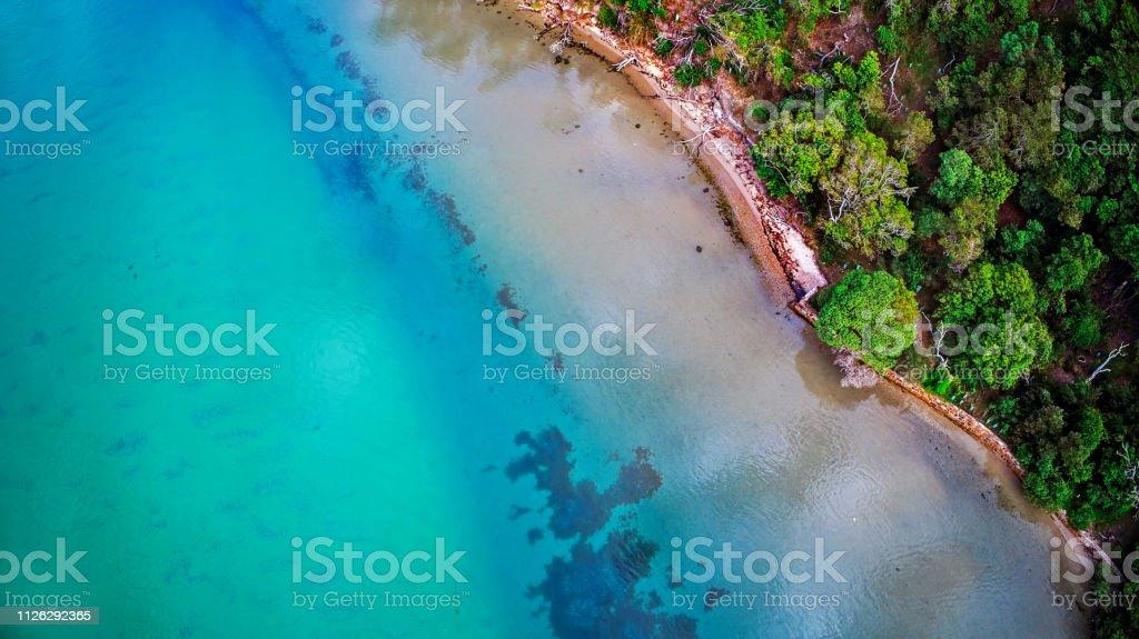 Kalimna at Lakes Entrance - Royalty-free Aerial View Stock Photo