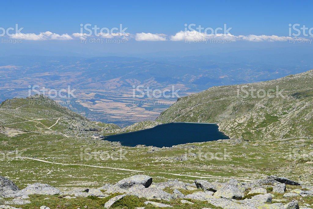 Kalin - the highest dam lake on the Balkans stock photo