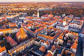istock Kalisz cityscape at sundown, Poland 1290480285