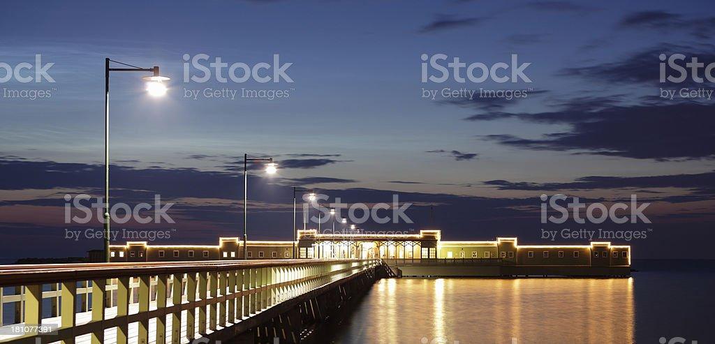 Kallbadhus pier in Malmo royalty-free stock photo