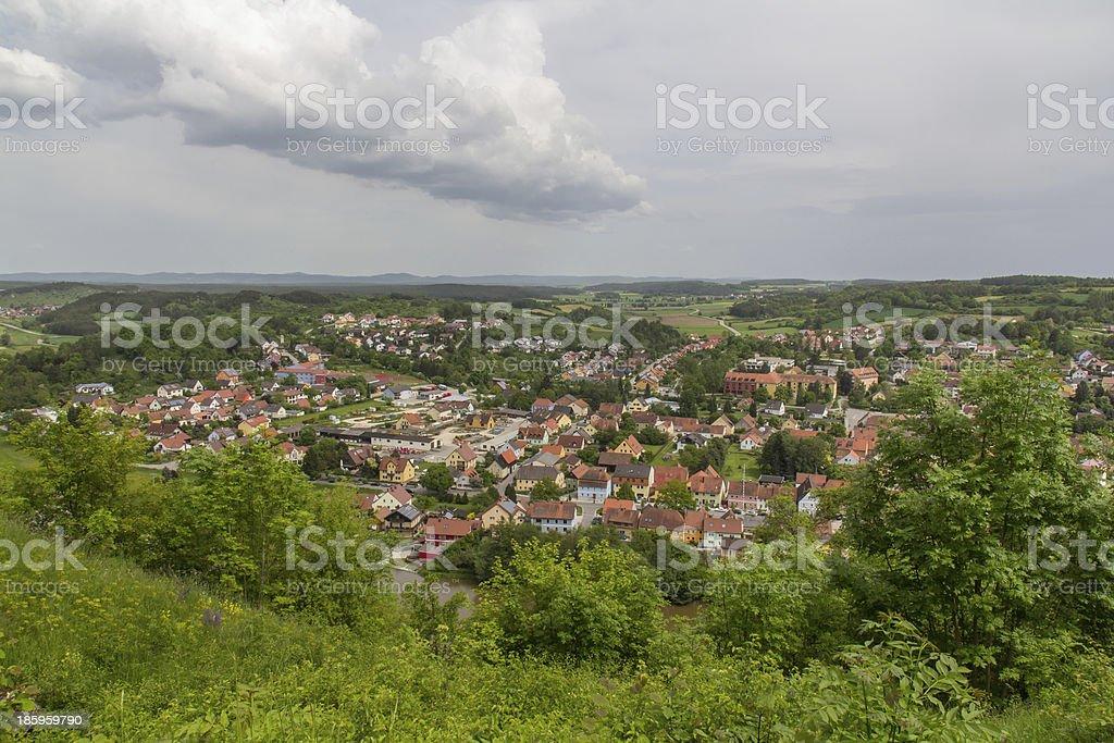 Kallmünz in spring stock photo
