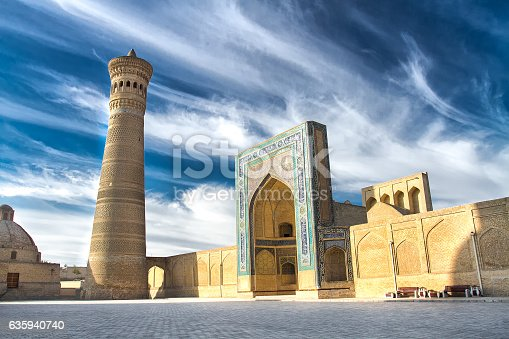 istock Kalyan Minaret and Mosque, Bukhara, Uzbekistan 635940740