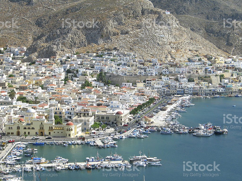 Kalymnos Aerial View stock photo