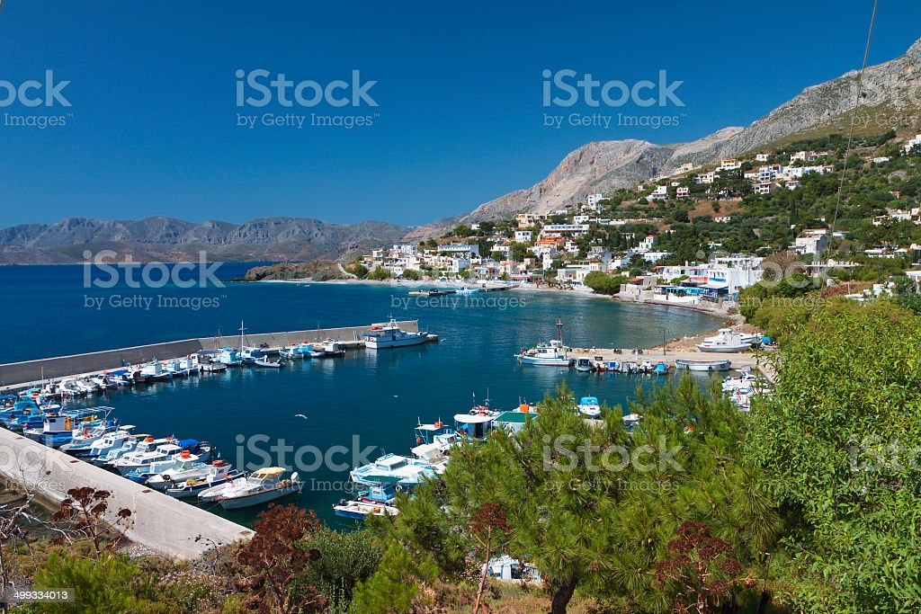 Kalymnos island in Greece. Melitchahas bay stock photo