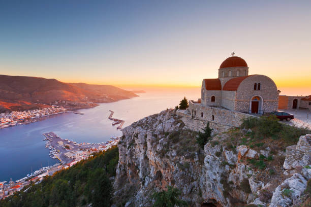 Kalymnos island. stock photo