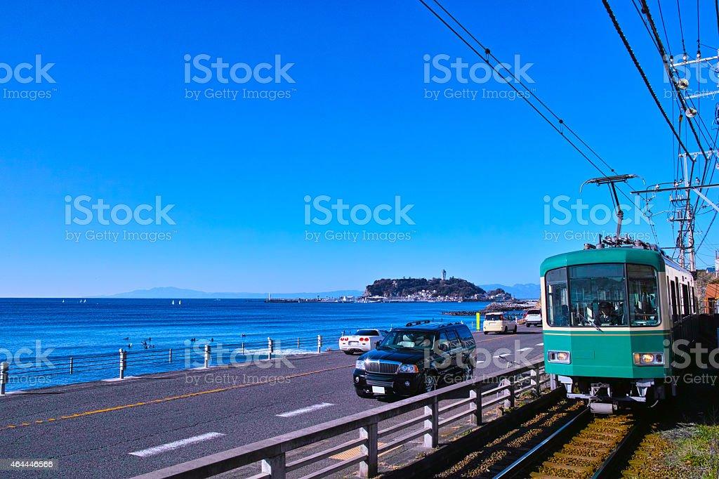 Kamakura of coastline stock photo